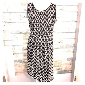 Banana Republic crochet black white dress size 14